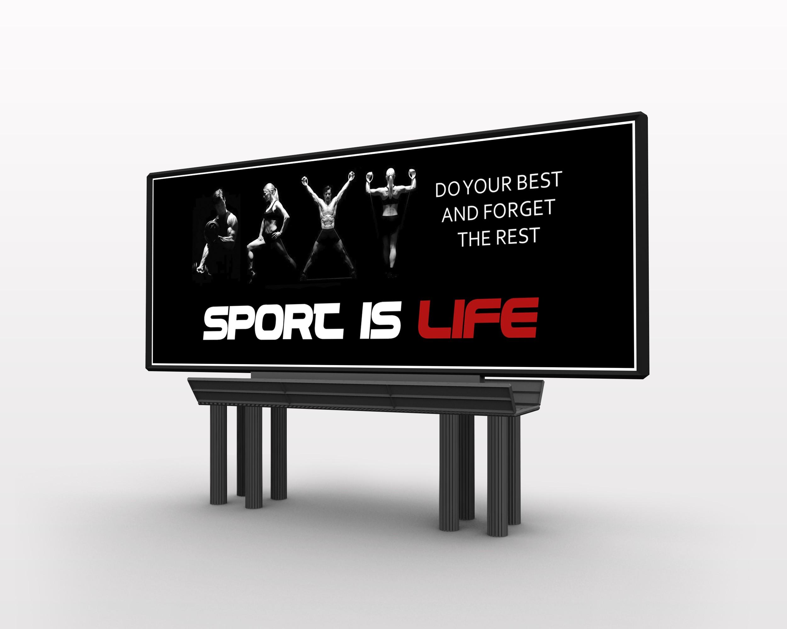 """Дизайн рекламного банера для """"Sport Life"""""""