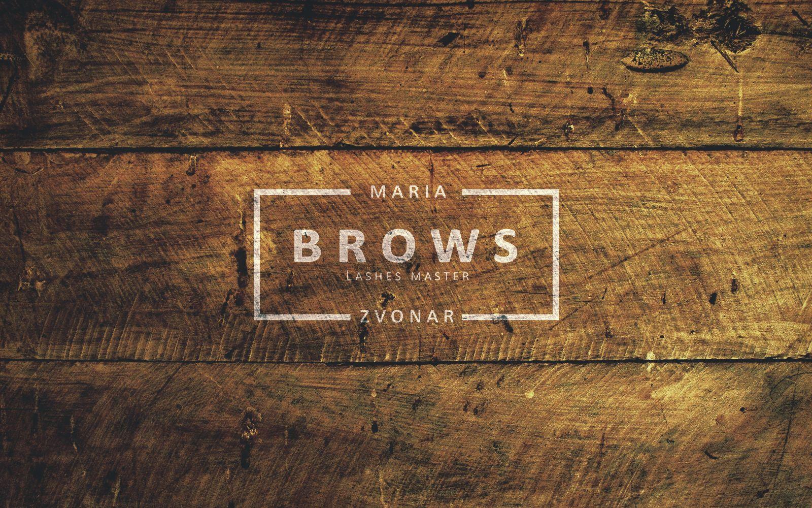"Розробка логотипу для ""Maria Zvonar Brows"""